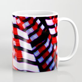 Abstract Red White and Blue Lights Coffee Mug