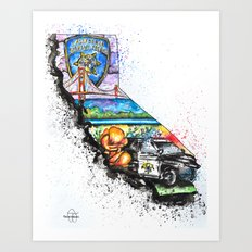 California Highway Patrol Art Print