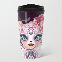 Camila Huesitos - Sugar Skull Metal Travel Mug