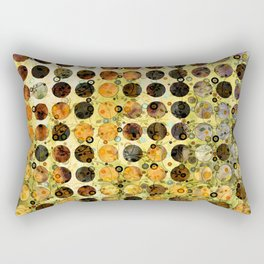 MELANGE OF YELLOW OCKER and BROWN Rectangular Pillow