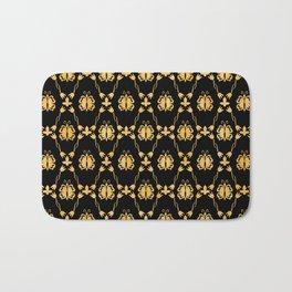 Classique Art Deco Gold Butterfly Pattern Bath Mat