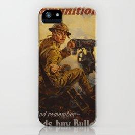 Vintage poster - Bonds Buy Bullets iPhone Case