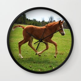 Little Running Man (horse) Wall Clock