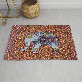 Indian Elephant facing left Rug