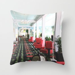 inside the Grand Hotel Throw Pillow