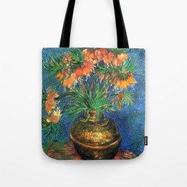 Vincent Van Gogh Frittilaries in Copper Vase 1887 Tote Bag