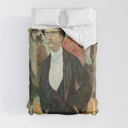 """Henri de Toulouse-Lautrec """"Monsieur Henri Fourcade au Bal de l'Opéra"""" Duvet Cover"""
