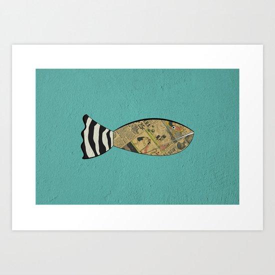 smart fish Art Print