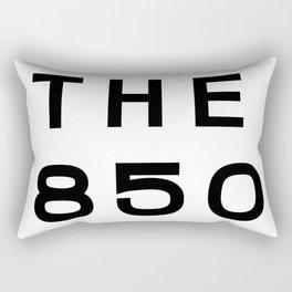 850 Florida Panhandle Area Code Typography Rectangular Pillow