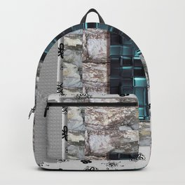 Textures for the Interior Grey Backpack