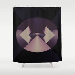 Violetly Simple Shower Curtain