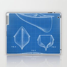 Canoe Patent - Kayak Art - Blueprint Laptop & iPad Skin