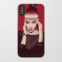 grimes iPhone & iPod Cases featuring Grimes by Arielle Herman