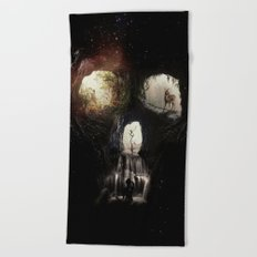 Cave Skull Beach Towel