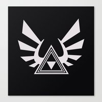 triforce Canvas Prints featuring triforce by Black