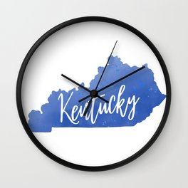 Kentucky Map State Watercolor Print Wall Clock