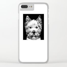 Black And White West Highland Terrier Dog Art Sharon Cummings Clear iPhone Case