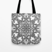 snowflake Tote Bags featuring Snowflake   by ArtLovePassion