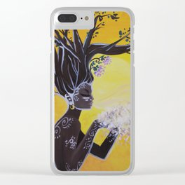 Tree Woman Clear iPhone Case