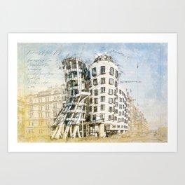 Dancing House, Prague Art Print