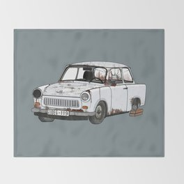 Trabant Throw Blanket