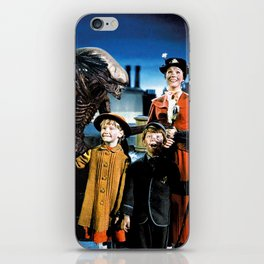 Alien in Mary Poppins iPhone Skin
