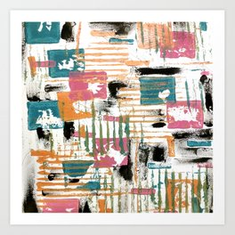 Blocks and Stripes Art Print