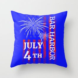 Bar Harbor 4th of July Independence Day Throw Pillow