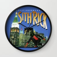 sith Wall Clocks featuring Sith Rick by Ant Atomic