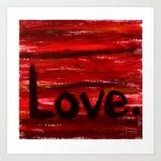 LOVE By KPD (Stretched) Art Print