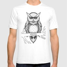 Owl Be Seeing You Mens Fitted Tee White SMALL