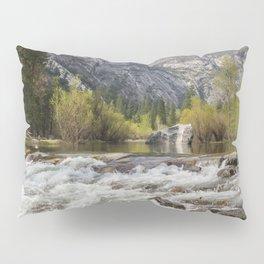 Mirror Lake and Rapids at Yosemite Pillow Sham