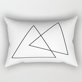 Double Triangles Rectangular Pillow
