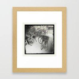 Bikes of Mile end / Les vélos du Mile end Framed Art Print