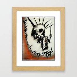 Disgruntled Framed Art Print