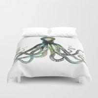 octopus Duvet Covers featuring Octopus by LebensART
