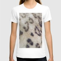 snow leopard T-shirts featuring Snow Leopard by Pauline Fowler ( Polly470 )