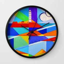 Godrevy Lighthouse, Cornwall, UK Wall Clock