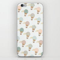 baloon iPhone & iPod Skins featuring baloon collage pattern  by flying bathtub