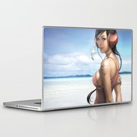 airplanes Laptop & iPad Skins featuring Pepper Smile by Artgerm™