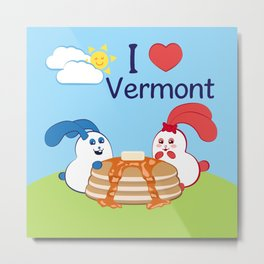 Ernest and Coraline | I love Vermont Metal Print