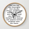 And one day she discovered that she was fierce and strong by theartshed