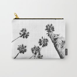 {2 of 2} Palm Trees = Happy // Black and White Summer Sky Carry-All Pouch