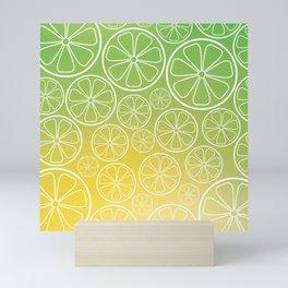 Citrus slices (green/yellow) Mini Art Print