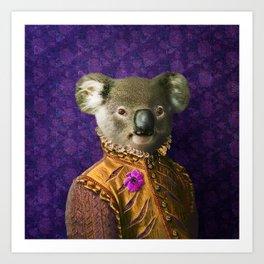 Portrait of Prince Kirkwood Koala Art Print