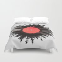 running Duvet Covers featuring The vinyl of my life by Robert Farkas