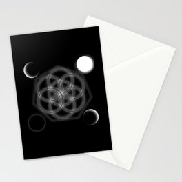 Life and moon Stationery Cards