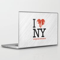 religious Laptop & iPad Skins featuring Luv New York Religious Freedom by The Mindful
