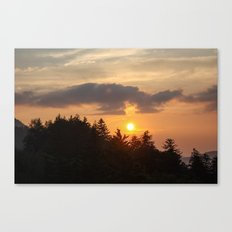 Smoky Mountains Sunset Canvas Print