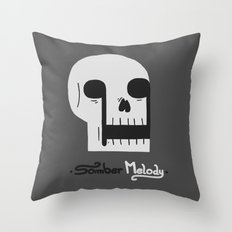 Somber Melody Throw Pillow